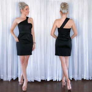 Laila Azhar Black Fitted Cocktail Party Dress